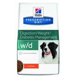 Hill's Prescription Diet w/d Perro Salud Digestiva, Peso y Diabetes 4kg