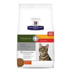Hill's Prescription Diet Metabolic + Urinary Stress Gatos Tracto Urinario y Sobrepeso 1,5kg