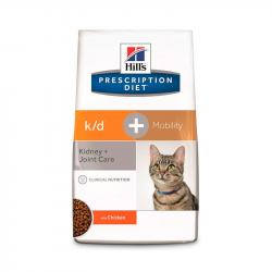 Hill's Prescription Diet k/d + Mobility Gatos Renal y Articulaciones 2kg