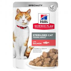 PACK AHORRO Hill's Sterilised de Salmón para Gatos 12x85g