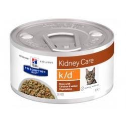 Hill´s Prescription Diet Feline K/D Pollo Vegetales para Gatos 82g