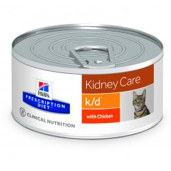 Hill's Prescription Diet k/d Gatos Salud Renal con Pollo Lata 156g