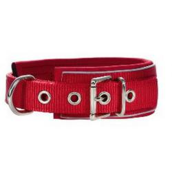 Hunter Collar Niq Reflectante Nylon Neopreno para Perros Rojo 45cm