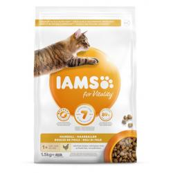 Iams Cat Adult Hairball Alimento para Gatos 1,5kg