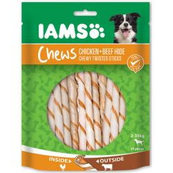 IAMS Chewy Twisted Sticks Pollo y Vacuno 35Uds 190g