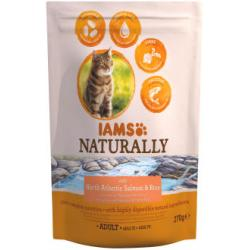 IAMS Naturally Adult Cat Atlantic Salmon & Arroz 270g
