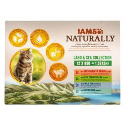 IAMS Naturally Adult Cat Land & Sea Collection 12x85g