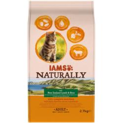 IAMS Naturally Adult Cat New Zealand Cordero & Arroz 2.7kg