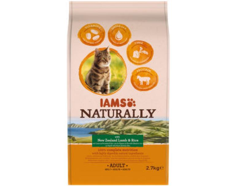 IAMS Naturally Cat New Zealand Cordero & Arroz 2,7Kg
