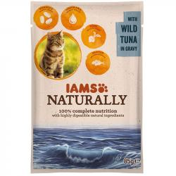 IAMS Cat Naturally Adult Atún Pouch 85g