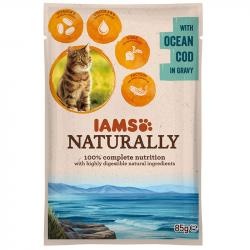 IAMS Cat Naturally Adult Bacalao Pouch 85 g