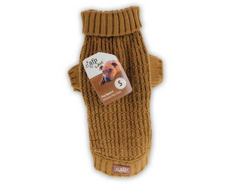 AFP Jersey para Perros Classic Weave Mostaza XS