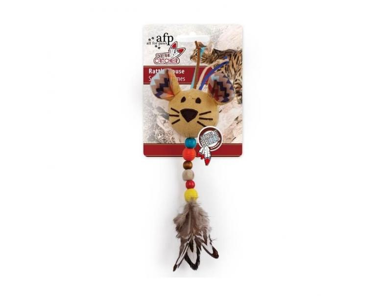 All For Paws Juguetes Catnip Rattle Ratón 22 cm