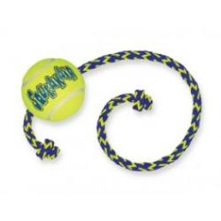 Kong Air Squeaker Tennis Ball Medium With Rope Juguete para perros