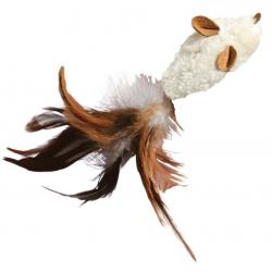 Kong Cat Refillable Feather Mouse 20cm