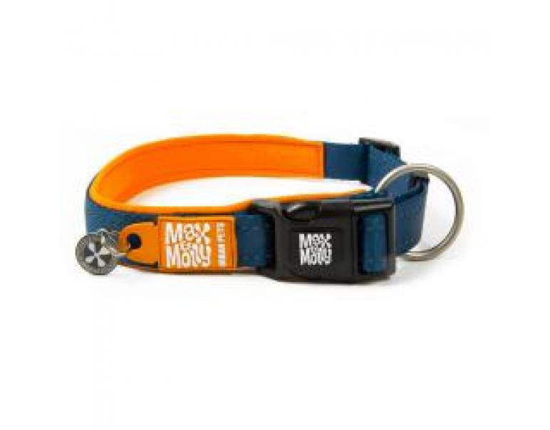 M&M Collar Matrix L Naranja 2,5x39-62cm