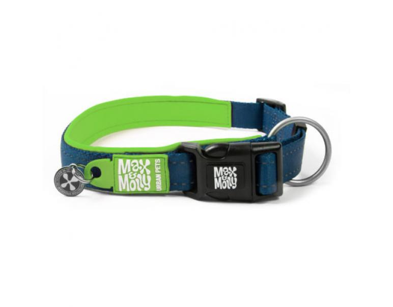 M&M COLLAR MATRIX L 2,5x39-62cm. Verde Lima
