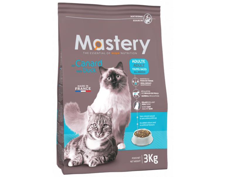Mastery Cat Adult Pato Alimento para Gatos 3kg