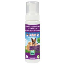 Menforsan Champú Anti-Insectos Espuma Seca natural Perros Gatos 200ml
