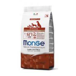 Monge Pienso Natural Puppy & Junior Cordero y Arroz 12kg