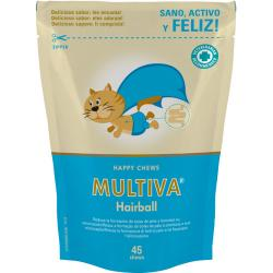 Multiva Hairball Happy Chews 45 unidades
