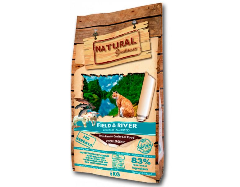 Natural Greatness Field & River Recipe Gatos 2kg