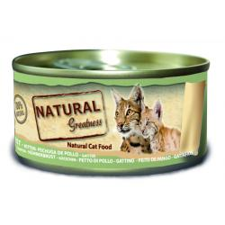 Natural Greatness Pechuga de Pollo para Gatitos 24x70g