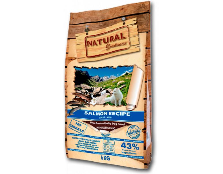 Natural Greatness Salmón Recipe Sensitive Mini 6kg
