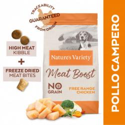Nature's Variety Selected Meat Boost Grain Free Pollo Pienso para Perros 1,5kg