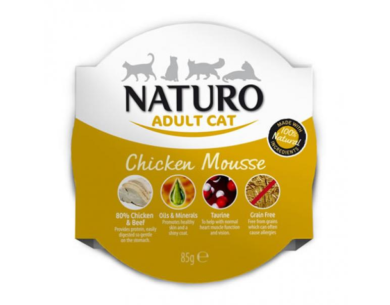 Naturo Adult Cat Pollo Mousse 8x85gr