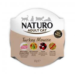 Naturo Adult Cat Pavo Mousse 8x85gr