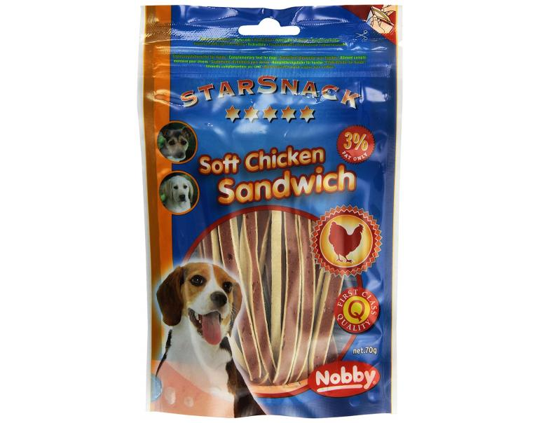 Soft Chicken Sandwich Snack para Perros 70g