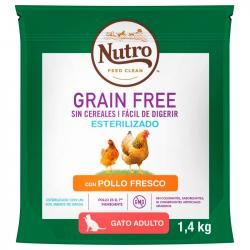 Nutro Grain Free Esterilizado Cat Adult Pollo 1,4kg