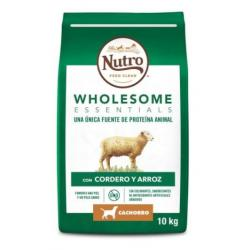 Nutro Wholesome Dog Cachorro Mediano Cordero Pienso para Perros 10kg