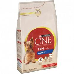 Purina One Perro Mini Adult Buey y Arroz Saco de 3kg