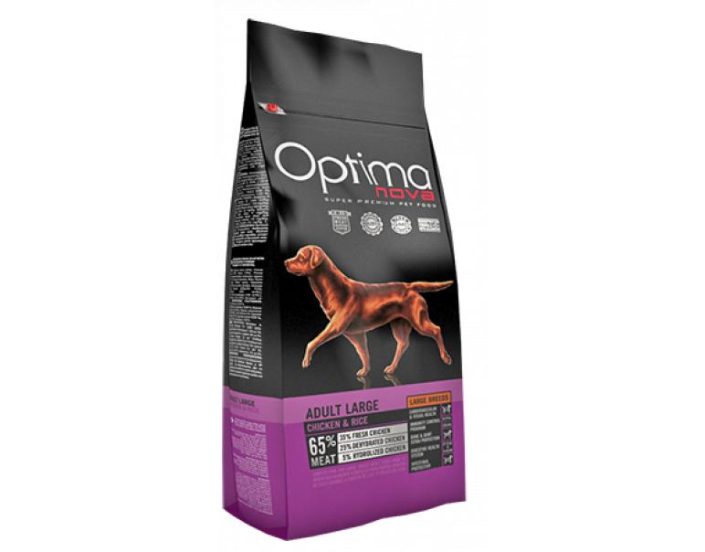 Optima Nova Adult Large Pollo y Arroz 12kg