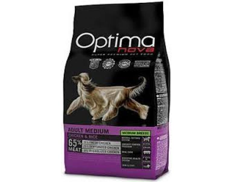 Optima Nova Adult Medium Pollo & Arroz 12 kg