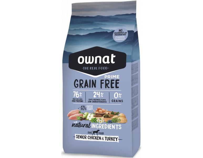 Ownat Grain Free Senior Chicken & Turkey para Perros 3kg