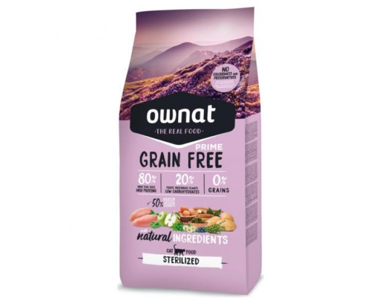 Ownat Grain Free Sterilized para Gatos Adultos 8kg