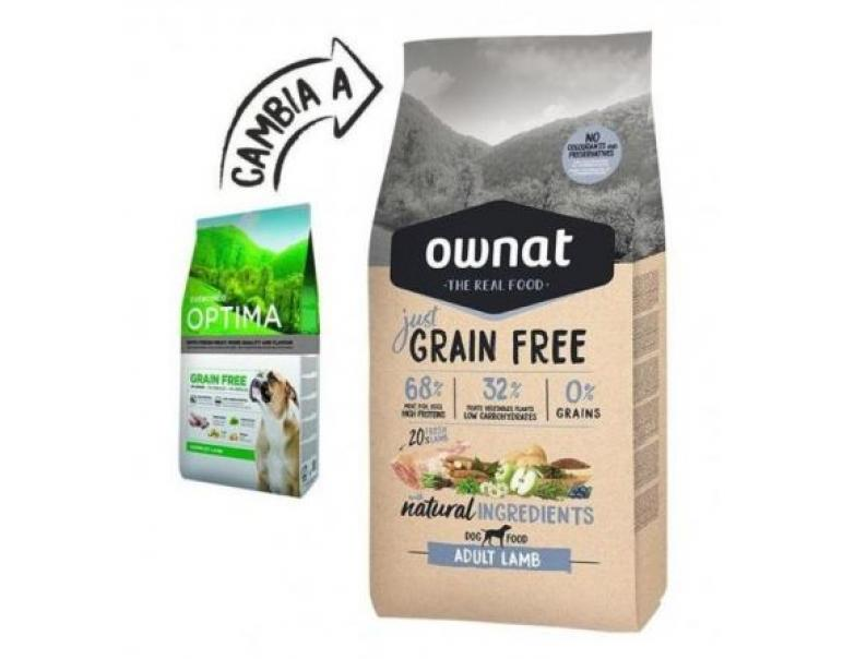 Ownat Just Grain Free Canine Adult Lamb 14kg