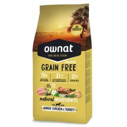Ownat Grain Free Prime Canine Junior Chiken & Turkey 3kg