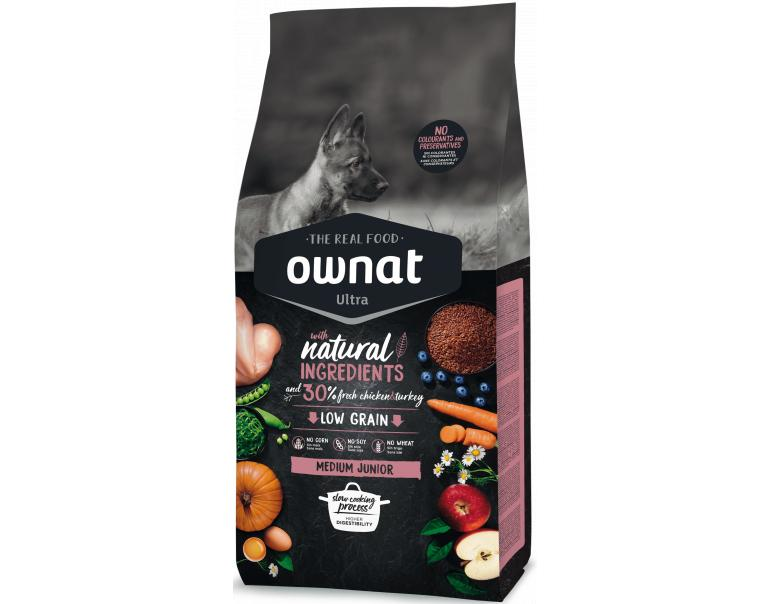 Ownat Ultra Medium Junior para Perros Cachorros 3kg