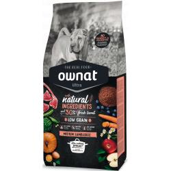 Ownat Ultra Medium Lamb&Rice para Perros 14+3kg