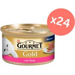 PACK AHORRO Gourmet Gold Buey Mousse 24x85gr