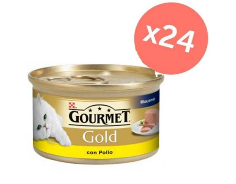 PACK AHORRO Gourmet Gold Mousse Pollo 24x85gr