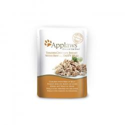 PACK AHORRO Applaws para Gatos con Pollo y Ternera en Gelatina 16x70g