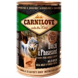 PACK AHORRO Carnilove Canine Adult Pato Faisan Alimento Húmedo para Perros 6x400g