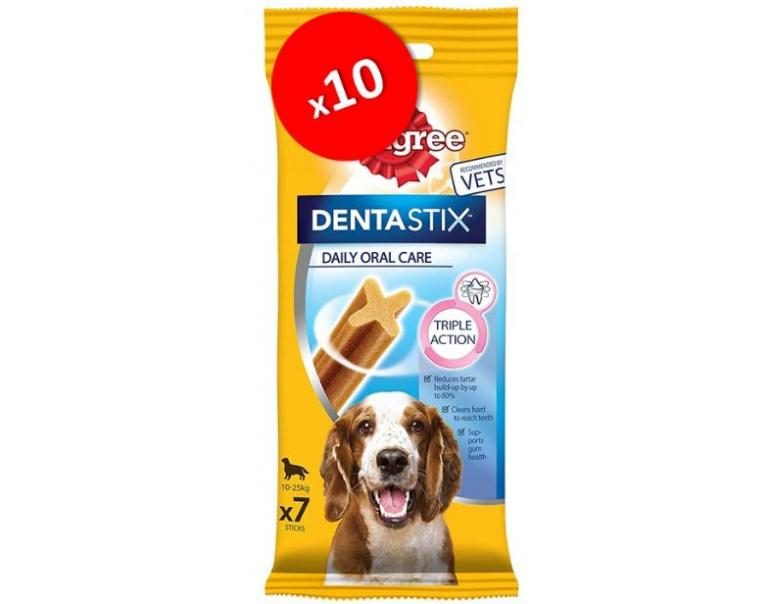 PACK AHORRO Pedigree Dentastix Diario Raza Mediana 70uds
