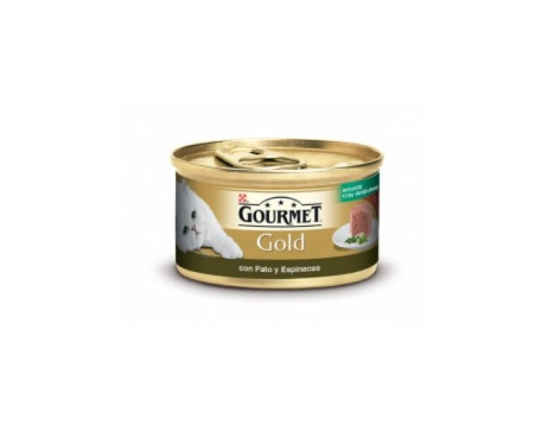 PACK AHORRO Purina Gourmet Gold Mousse con Pato & Espinacas 24x85g