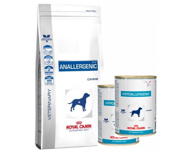 pack ahorro royal canin anallergenic 8kg royal canin hypoallergenic 2 x 400g mascoteros. Black Bedroom Furniture Sets. Home Design Ideas